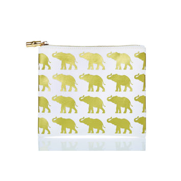 Flat Zip Animal Canvas Bag