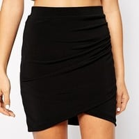 New Look Ruched Side Mini Skirt