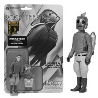 SDCC Exclusive Black and White Rocketeer ReAction 3 3/4-Inch Action Figure