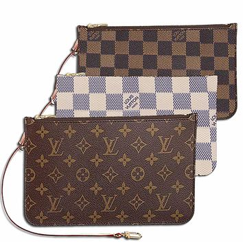 LV Trending Women Girls Louis Vuitton Coin purse Wrist Bag Cute Wallet B