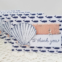 Sea Shell Thank You Note Cards - Sea Shell Note Cards - Thank You Note Cards - Nautical Thank You Cards - Nautical Note Cards - To Thank You