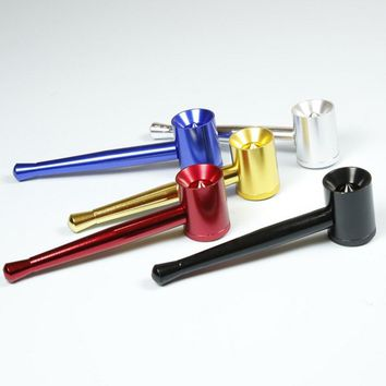 Quality Fashion Metal Pipes Weed Tobacco Pipe Herb Smoking Pipe Gift Mill Smoke Narguile Weed Grinder Cigarette Holder