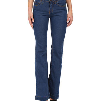 Free People Gummy Denim Clean Mid Rise Flare