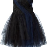 Oscar De La Renta Tulle Strapless Cocktail Dress - Tiziana Fausti - Farfetch.com