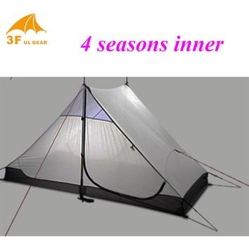 High quality 3F ul gear 2 persons 3 seasons and 4 seasons inner of LANSHAN 2 out door camping tent