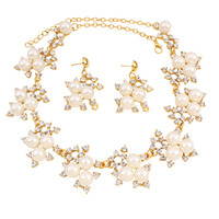 Casual Elegant Pearl Necklace And Earring