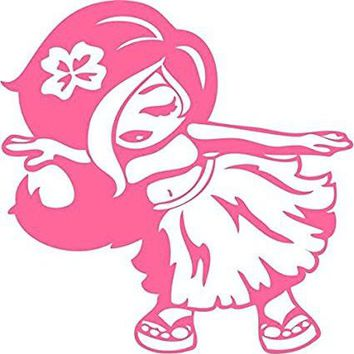 Hawaiian Dancing Hula Girl  Logo Vinyl Sticker Decal Car Truck Windon Wall Laptop notebook
