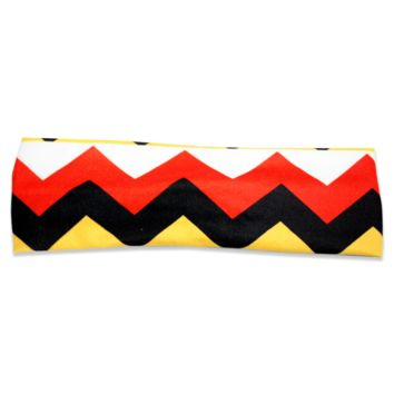 Chevron (Red, White, Yellow & Black) / Headband