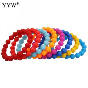 2017 hotsale silicone lokai bracelet multicolor 10mm shark Lokai silicone beads bracelets men and women 19 color Energy bracelet