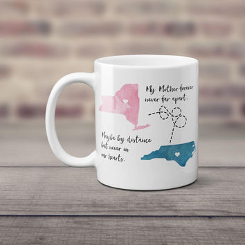 Long Distance Coffee Mug | Mother Daughter Gift | Personalized Mug