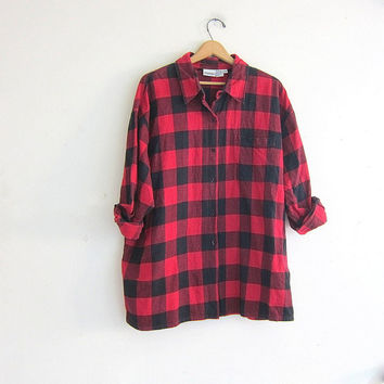 Vintage Black And Red Checkered Shirt From Dirty Birdies Tops