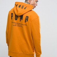 Puma Super Oversized Pullover Hoodie In Orange Exclusive To ASOS 57534001 at asos.com