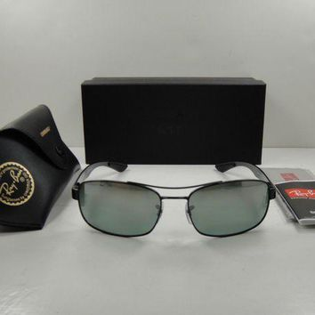 Kalete RAY-BAN CHROMANCE POLARIZED SUNGLASSES RB8318CH 002/5L BLACK/GREY MIRROR 62MM