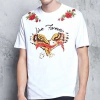 Live Forever Eagle Graphic Tee