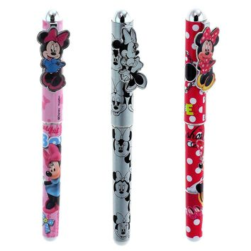 Disney Minnie Mouse Authentic Licensed Roller Pen 3 Pcs Set- (Style May Vary)
