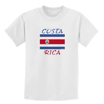 Costa Rica Flag Childrens T-Shirt