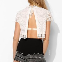 Kimchi Blue Ashley Open-Back Lace Top - Urban Outfitters