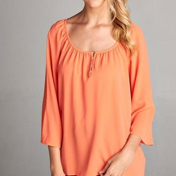 These Days Coral Shirt