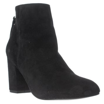 Steve Madden Cynthia Rear Zip Booties, Black Suede, 10 US