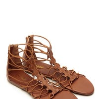 Bamboo Relaxed Gladiator Chestnut Sandals
