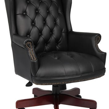Boss Wingback Traditional Chair, Black