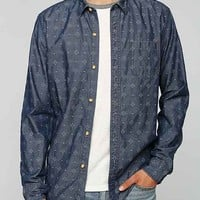 Koto Printed Chambray Button-Down Shirt- Indigo