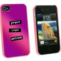Graphics and More Peace Love Cheerleading - Snap On Hard Protective Case for Apple iPhone 4 4S - Pink - Carrying Case - Non-Retail Packaging - Pink