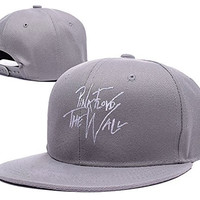 XINMEN Pink Floyd the wall Logo Adjustable Snapback Embroidery Hats Caps - Grey