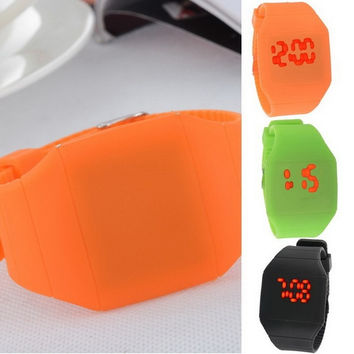 Kids Fashion Woman Children Man LED Digital Display  Electronic Calculator Sport Wrist Watch = 1705532676