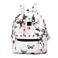 On Sale Casual Comfort Stylish College Hot Deal Back To School Mini Lovely Vintage Print Korean Backpack [4915454596]