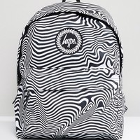Hype Warped Zebra Print Backpack at asos.com