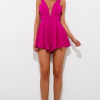 The Warrior Playsuit Fuchsia