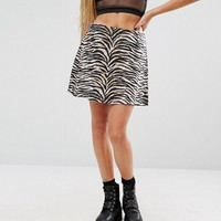 Motel Annie Skirt In Animal Print at asos.com