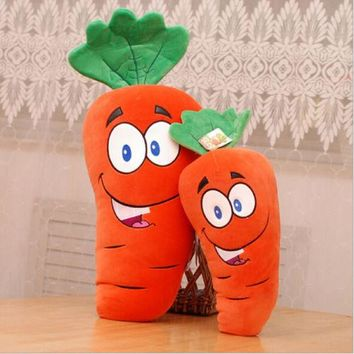 Funny Carrot Shape Home Office Decoration Pillows Stuffed Dolls Carrot Back Cushion Plush Toys
