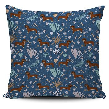 Playful Dachshund Pillow Cover