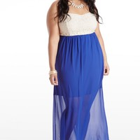 Plus Size Once Upon A Lace Maxi Dress | Fashion To Figure