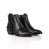 Valentino - Leather Rockee Ankle Boots
