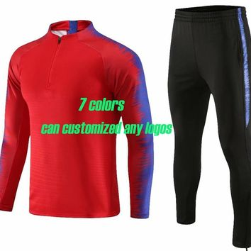 Men' trainning sets men zipper tracksuits sportswear adult sports suits running uniforms male jackets and pants winter clothing