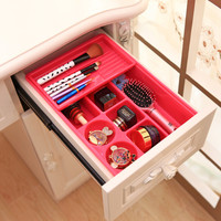 New 2 Layers Plastic Drawer Organizer 8 Space Spice Makeup Organizador Desk Cosmetic Organizer Sundries Storage Box  CFT092
