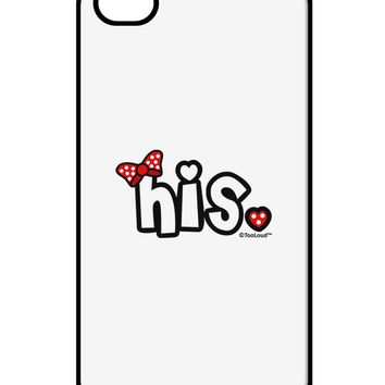 Matching His and Hers Design - His - Red Bow iPhone 4 / 4S Case  by TooLoud