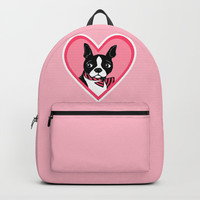 Boston Terrier Love Backpacks by Artist Abigail