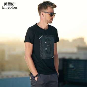 Ying Jilun Summer Men's Spring and Summer Souvenir Printed Short Sleeved t-Shirts Digital Clothes Men's Wear New Products