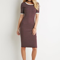 Ribbed Stripe Bodycon Dress