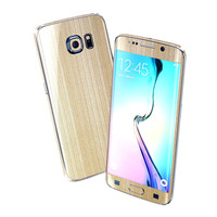 Samsung Galaxy S6 EDGE Premium Brushed Champagne GOLD Skin