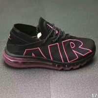 Nike Air Max Flair Women Men Casual Running Sport Shoes Sneakers Black/Rose G-PSXY