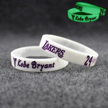 LAKERS 4Pc Popular Kobe Bryant Silicone Wristband