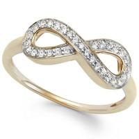 wrapped™ Diamond Infinity Ring in YellOra™ (1/6 ct. t.w.)