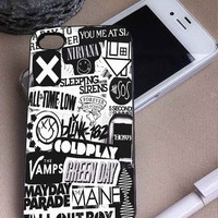 The XX, Sleeping With SIrens, All Time Low, Nirvana, COldplay | Music Collage | iPhone 4 4S 5 5S 5C 6 6+ Case | Samsung Galaxy S3 S4 S5 Cover | HTC Cases