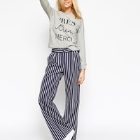 ASOS Wide Leg Trouser with D-ring at asos.com