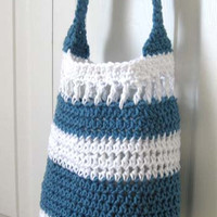Crochet Pattern Tote Beach Market Shopping Grocery Summer Purse Hand Bag Purse PDF Instant Download
